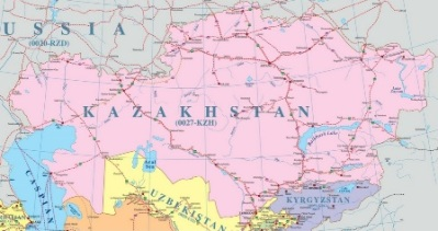 Kazakistan Demiryolu Haritası
